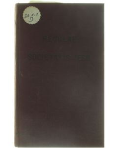 Regulae Societatis Jesu [Hardcover] [1910]