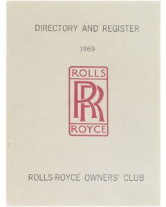 Rolls Royce - Directory and register 1969 [Paperback] Rolls-Royce owner's club [1969]