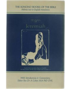 The Soncino Books of the Bible - Jeremiah ed: Rev. Dr. A Cohen [1973]