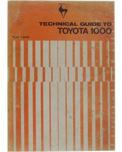 Technical guide to Toyota 1000 (Aug. 1969) [Paperback] [1969]