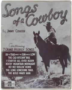 Songs of a Cowboy [Paperback] Jimmy Coulter