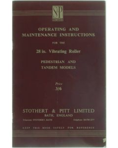 Operating and maintenance instructions for the 28 in vibrating roller pedestrian and tandem models [Paperback] Collective [1954]