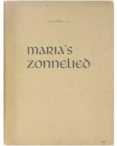 Maria's Zonnelied [Paperback] Frans Eykans [1950]